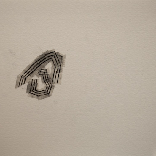 rdhs no. 2 2014 pencil on tape on paper