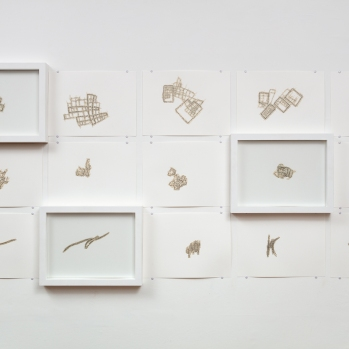 Shroud Drawings 2015 Installation view